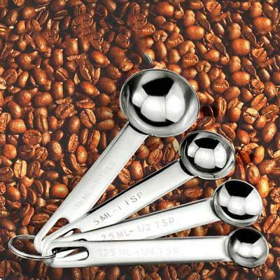 Kitchen tools Measuring Spoons Cups Stainless Steel Baking Cooking Coffee Tea LG