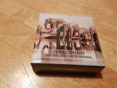 Coin Silver 1oz The Elephant Tanzania 1000 Shillings 2016