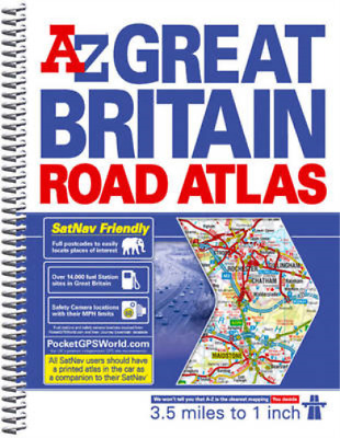 Great Britain 3.5m Road Atlas, Geographers' a-Z Map Company, Used; Good Book