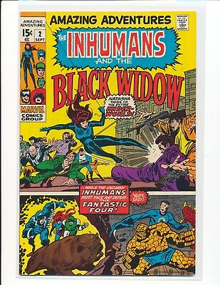 Amazing Adventures # 2 - Inhumans & Black Widow Fine Cond.