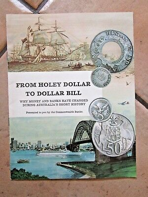 FROM HOLEY DOLLAR TO DOLLAR BILL - COMMONWEALTH BANK - 1960's - VGC~