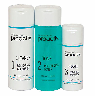 Proactiv 60 Day 3 Piece set Proactive Cleanser Toner Lotion 1 Time Only Face