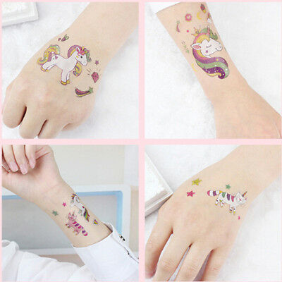 Unicorn Temporary Tattoo Set 75x120mm Girl Kids Animal Party Favor BS