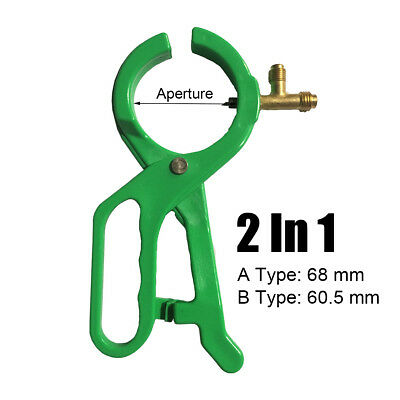 For R-134a R22 & R12 Refrigerant 2-In-1 Side Punch AC Can Tap AB Aperture