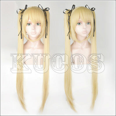 421 Dead Or Alive Marie Rose Blond Styled Cosplay Wig + Free Black Ribbon New*