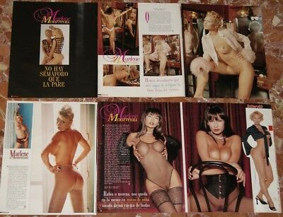 Marlene Mourreau Spanish Poster+Clippings Lot Super Sexy