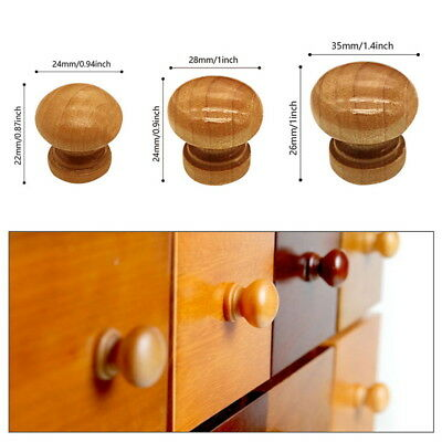10pcs Wooden Cabinet Drawer Cupboard Wardrobe Door Knobs Pull Handle Hardware