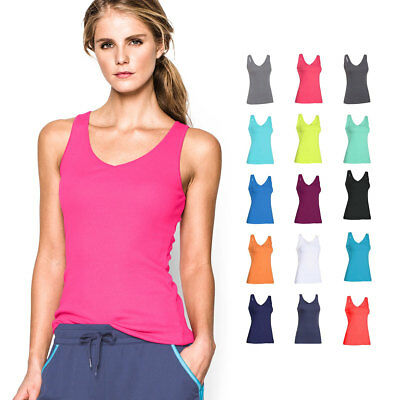 Under Armour Womens UA Double Threat Tank Sleeveless Gym Vest T 28% OFF RRP