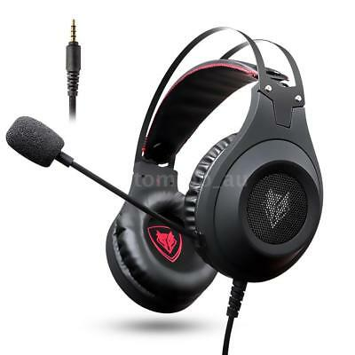 NUBWO N2 3.5mm Wired Stereo Gaming Headset Over Ear Headphone MIC Fr PC PS4 Xbox
