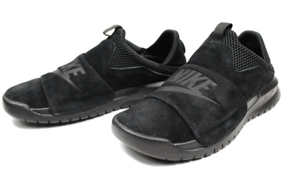 c5ff2abe2f95 NEW NIKE BENASSI Slip 882410-003 Triple Black Mens Slip-On Shoes ...