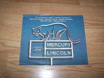 1977 Lincoln Mercury New Car Brochure