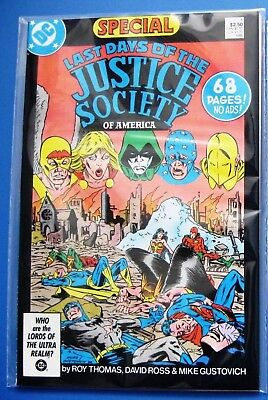 JUSTICE SOCIETY OF AMERICA 1 (1991) + LAST DAYS OF JSA SPECIAL (1986) (Crisis)