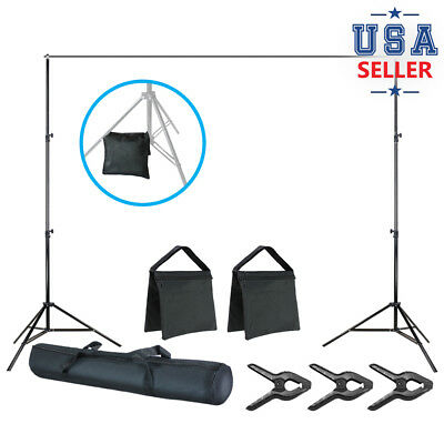 7.4' Photo Studio Stand 10 ft. Photography Background Muslin Support Kit