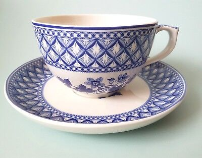 SPODE Blue Room Geranium Jumbo Breakfast Cup and Saucer Boxed New 20 FLUID OZ