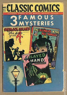 Classics Illustrated 021 3 Famous Mysteries #3 1946 GD 2.0