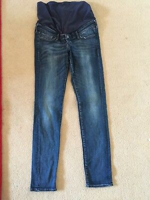 Ladies H&M Mama Slim Over Bump Maternity Jeans Size 10