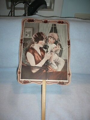 antique  hand fan allentown pa pergola flapper girl candle stick phone ads