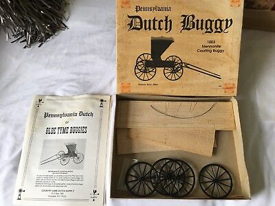 Pa Dutch Amish Courting Buggy  Vintage Wood Model Kit #1003 MENNONITE SHIPS FREE