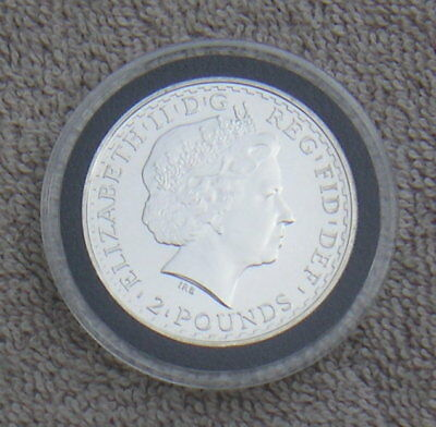 Great Britain UK 2010 Two Pounds Silver Coin 1 Ounce Oz. Fine Silver in Capsule