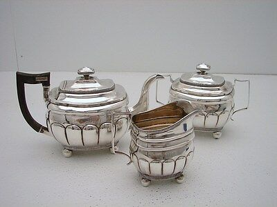 3 Pc Early American Coin Silver Tea Set c1790 J.Sayer South Hampton, New York