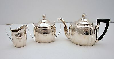 3 Pc Early American Coin Silver Tea Set c1817 Nathanial FRANCIS , New York