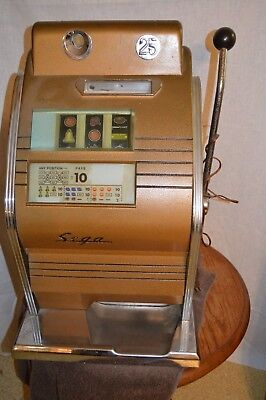 Rare Vintage Sega 25 Cent Slot Machine