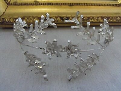 beautiful small wedding headband from 1910 german antique vintage tiara silver