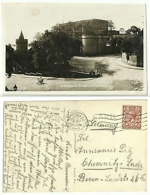 GB 309 - Nottingham - Castle and Gateway, gelaufen 1936