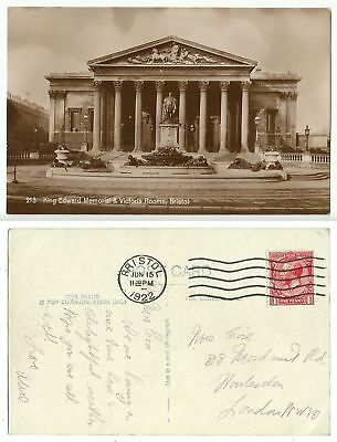 GB 316 - Bristol - King Edward Memorial & Victoria Rooms, gelaufen 1922