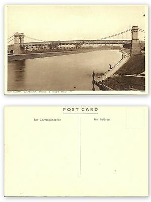 GB 344 - Nottingham - Suspension Bridge & River Trent, ungelaufen
