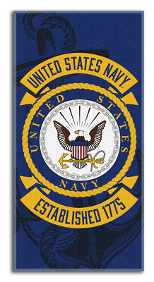 US NAVY LICENSED Beach POOL Towel USA FLAG ARMY Armed Forces Military PATRIOTIC1