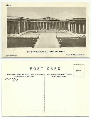 GB H284 - London - The British Museum, Main Entrance, ungelaufen (datiert 1913)