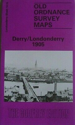 Old Ordnance Survey Maps Derry/Londonderry  Londonderry 1905 Godfrey Edition New