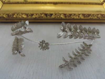 beautiful small wedding headband from 1920s Germany antique vintage tiara silver