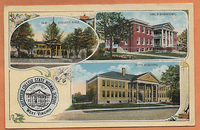 WV West Virginia Shepherdstown Shepherd College Views Jefferson County Postcard