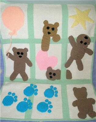 New Hand Crochet Baby Mat With Funny Bears