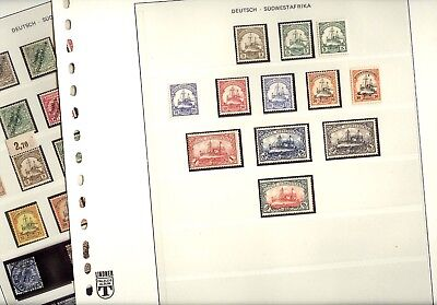 GERMAN Colony SOUTH WEST AFRICA, Fantastic Stamp Collection in hingeless pages
