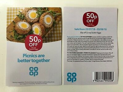 £11.50 Off CO-OP SCOTCH EGGS - 23 X 50p Off Coupons