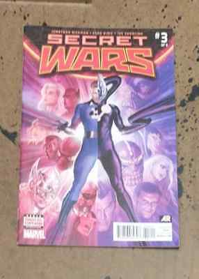 Secret Wars #3 1st Print Ross Hickman Ribic Marvel Comic Book VF+  bn 1