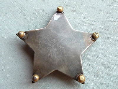 Antique Sterling Silver Generic Deputy Sheriff Style Badge Pendant Hallmarked