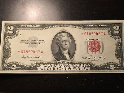 1953 $2.00 United States Note,star Note,uncirculated Condition,take A Look!!!!!!