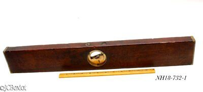 antique DAVIS MAHOGANY LEVEL INCLINOMETER woodworking carpenter tool nice shape