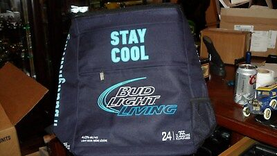 BUD LIGHT LIVING Beer Backpack Cooler Bag 24 x 355 ml RARE Canada