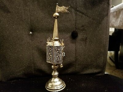Antique Judaica: Early Sterling Silver Spice Tower. Besamim 100 Years Old