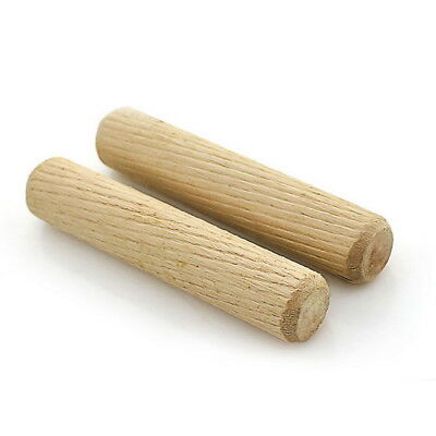 100Pcs Wooden Dowel Pins Wood Kiln Dried Fluted and Beveled made of Hardwood