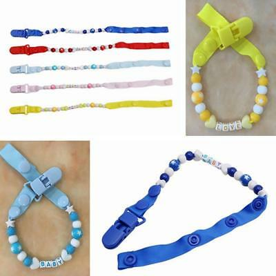 Infant Dummy Pacifier Baby Toddler Boy Soother Nipple Shield Chain Clip Holder G