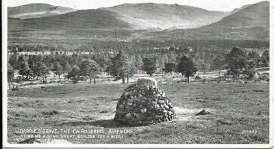 Old Postcard-BARRIE'S GRAVE-THE CAIRNGORMS-AVIMORE-Scotland.
