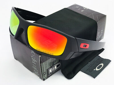Sunglasses Polished Black Gascan88¹Oakley@¹Polarized Fire Lenses
