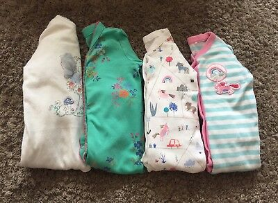 Baby Girl NEXT Sleepsuit Bundle X 4 Age 3-6 Months