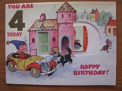 VINTAGE CARDS: NODDY / ENID BLYTON BIRTHDAY CARD AND SANDS BABY CARD 1950's